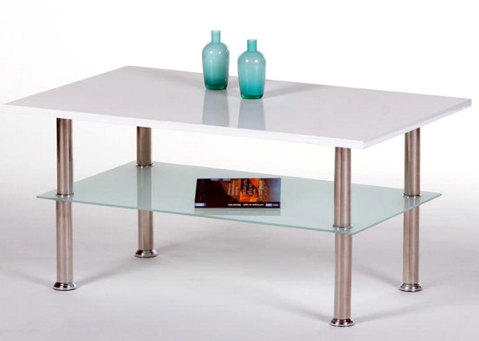 Asko Konferenční stolek Flip 3, bílý lesk