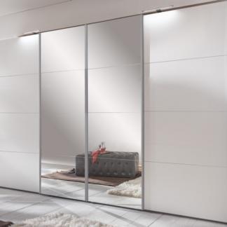 Asko Šatní skříň Brüssel, bílá/zrcadlo