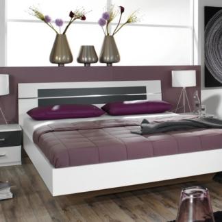 Asko Postel s nočními stolky Burano 160x200 cm, bílá/šedá