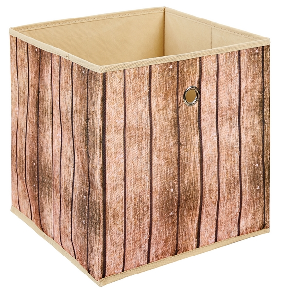 Asko Úložný box Wuddi 1, motiv dřeva