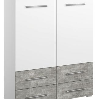 Asko Vysoká komoda Siegen, bílý/šedý beton