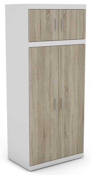 Asko Šatní skřín Ares 2D, bílá/dveře dub sonoma