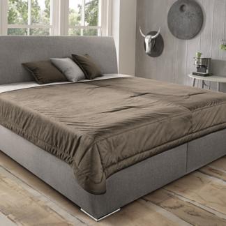 Asko Postel Monte 160x200 cm, béžová tkanina/deka/polštáře