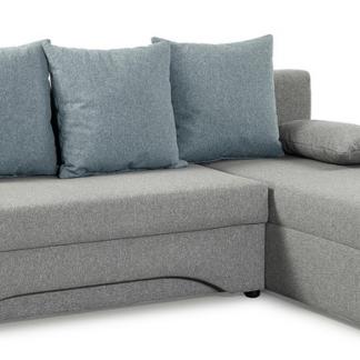 Asko Rohová sedací souprava Polaris, šedá/modrá tkanina