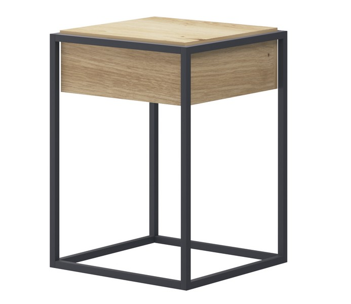 Asko Odkládací stolek se zásuvkou Enjoy, dub artisan