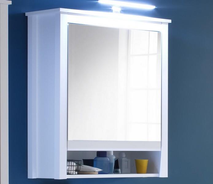 Asko Koupelnová skříňka se zrcadlem Ole, bílá, šířka 62 cm