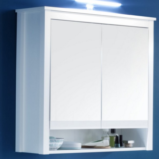 Asko Koupelnová skříňka se zrcadlem Ole, bílá, šířka 81 cm