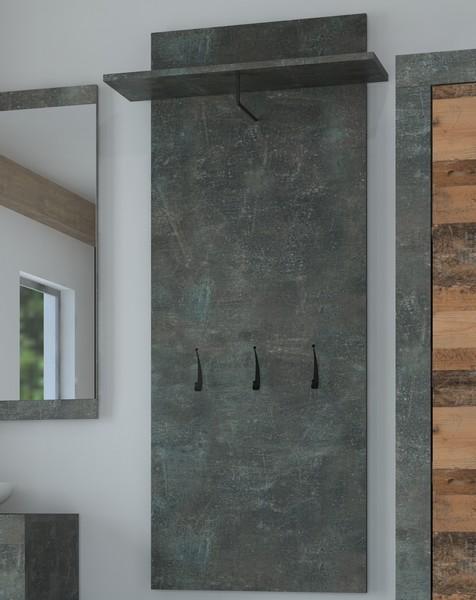 Asko Věšákový panel Askon 51, tmavý beton