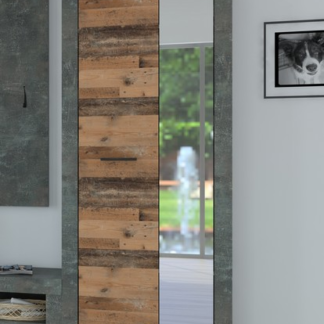 Asko Předsíňová skříň Askon 48, tmavý beton/vintage optika dřeva