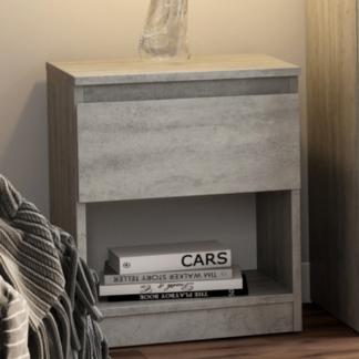 Asko Skříňka/noční stolek Carlos 401S, šedý beton