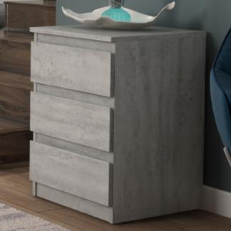 Asko Skříňka/vysoký noční stolek Carlos 403S, šedý beton