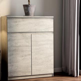 Asko Skříňka se šuplíkem Carlos, šedý beton, 80 cm