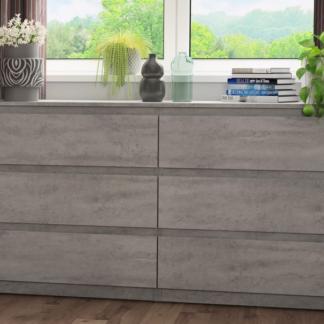 Asko Široká komoda Carlos, šedý beton, 150 cm