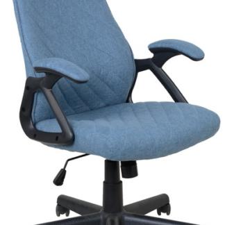 Asko Kancelářská židle Lineus, modrá tkanina