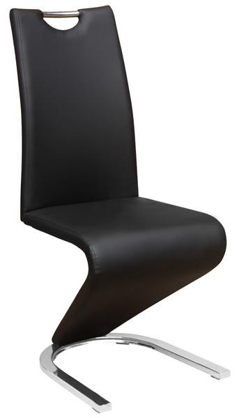 Asko Jídelní židle Vegas, černá ekokůže