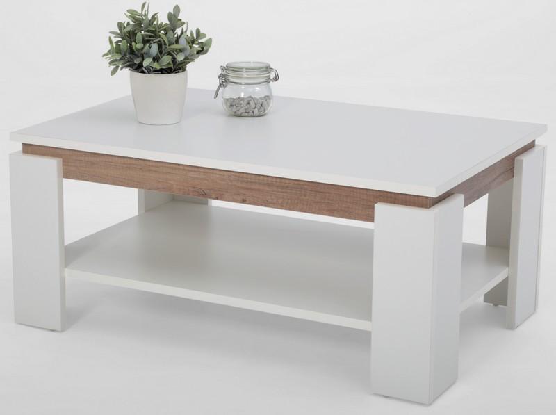 Asko Konferenční stolek Tim 2, bílá/divoký dub