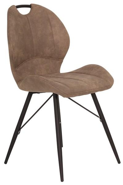 Asko Jídelní židle Kate, hnědá vintage látka
