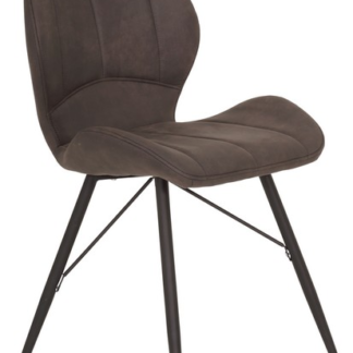 Asko Jídelní židle Kate, antracitová vintage látka