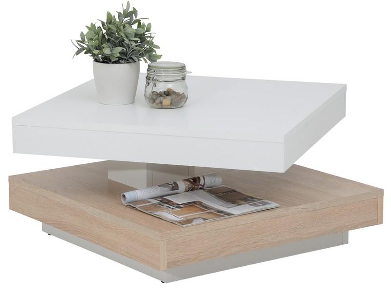 Asko Konferenční stolek Andy, bílý/dub sonoma