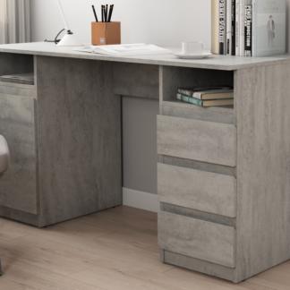 Asko Psací stůl Carlos, šedý beton