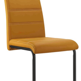 Asko Jídelní židle Queens, žlutá ekokůže