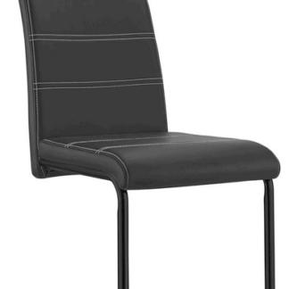 Asko Jídelní židle Queens, černá ekokůže