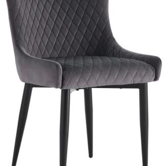 Asko Jídelní židle Charlotta, tmavě šedá látka