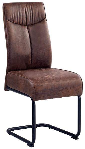 Asko Jídelní židle York, hnědá vintage látka