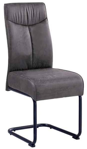 Asko Jídelní židle York, tmavě šedá vintage látka