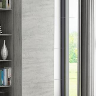 Asko Šatní skříň Carlos, šedý beton, 150 cm, posuvné dveře