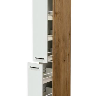 Asko Vysoká kuchyňská skříň Avila AHS30, dub lancelot/krémová, šířka 30 cm