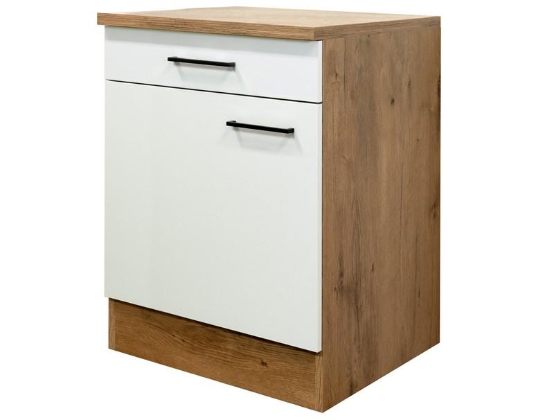 Asko Dolní kuchyňská skříňka Avila US60, dub lancelot/krémová, šířka 60 cm