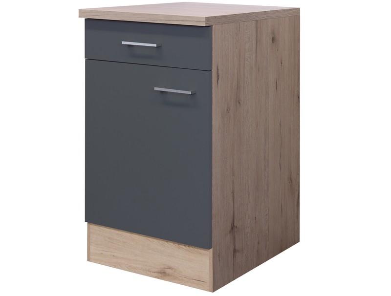 Asko Dolní kuchyňská skříňka Tiago US50, dub sonoma/šedá, šířka 50 cm