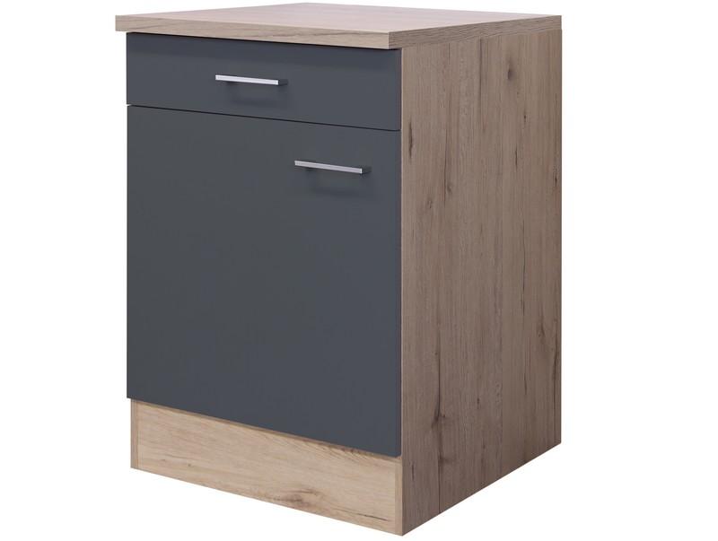 Asko Dolní kuchyňská skříňka Tiago US60, dub sonoma/šedá, šířka 60 cm