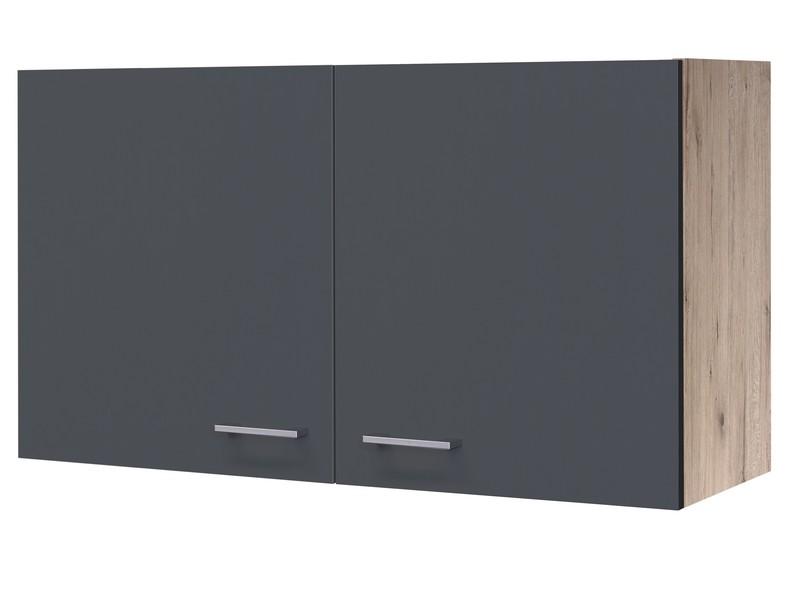 Asko Horní kuchyňská skříňka Tiago H100, dub sonoma/šedá, šířka 100 cm