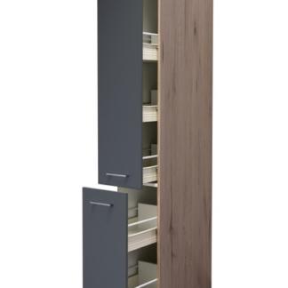 Asko Vysoká kuchyňská skříň Tiago AHS30, dub sonoma/šedá, šířka 30 cm