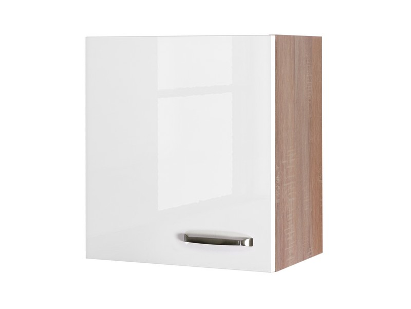 Asko Horní kuchyňská skříňka Valero H50, dub sonoma/bílý lesk, šířka 50 cm