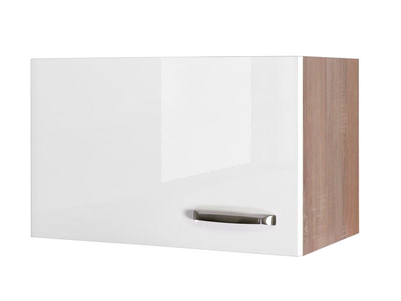 Asko Horní kuchyňská skříňka Valero KH60, dub sonoma/bílý lesk, šířka 60 cm