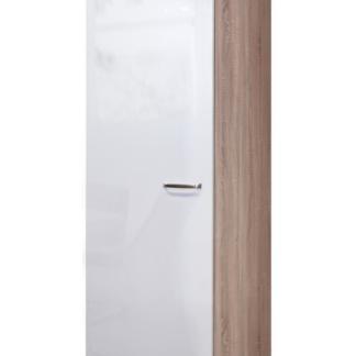 Asko Vysoká kuchyňská skříň Valero GE50, dub sonoma/bílý lesk, šířka 50 cm