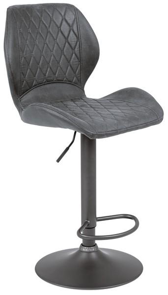 Asko Barová stolička Sonja, antracitová vintage látka