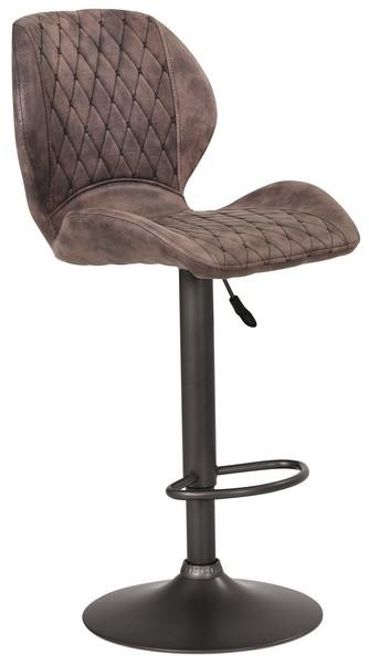 Asko Barová stolička Sonja, hnědá vintage látka