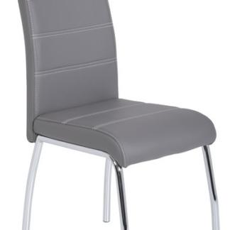 Asko Jídelní židle Susi, šedá ekokůže